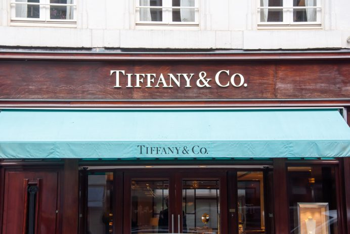 Tiffany & Co store in the P.C.Hooftstraat shopping street. Amsterdam.