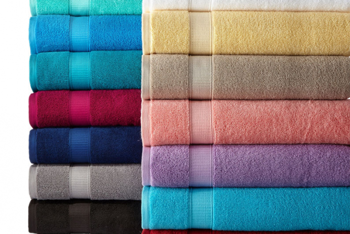 JC Penney colorful towels