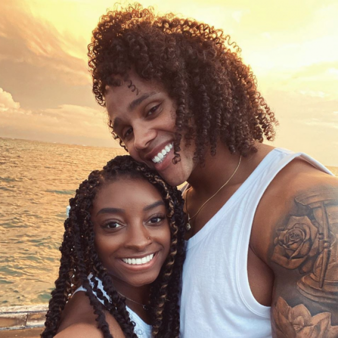 Simone Biles and Stacey Ervin Jr. in Belize