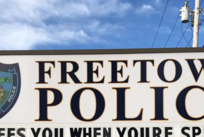 Freetown Police Department sign