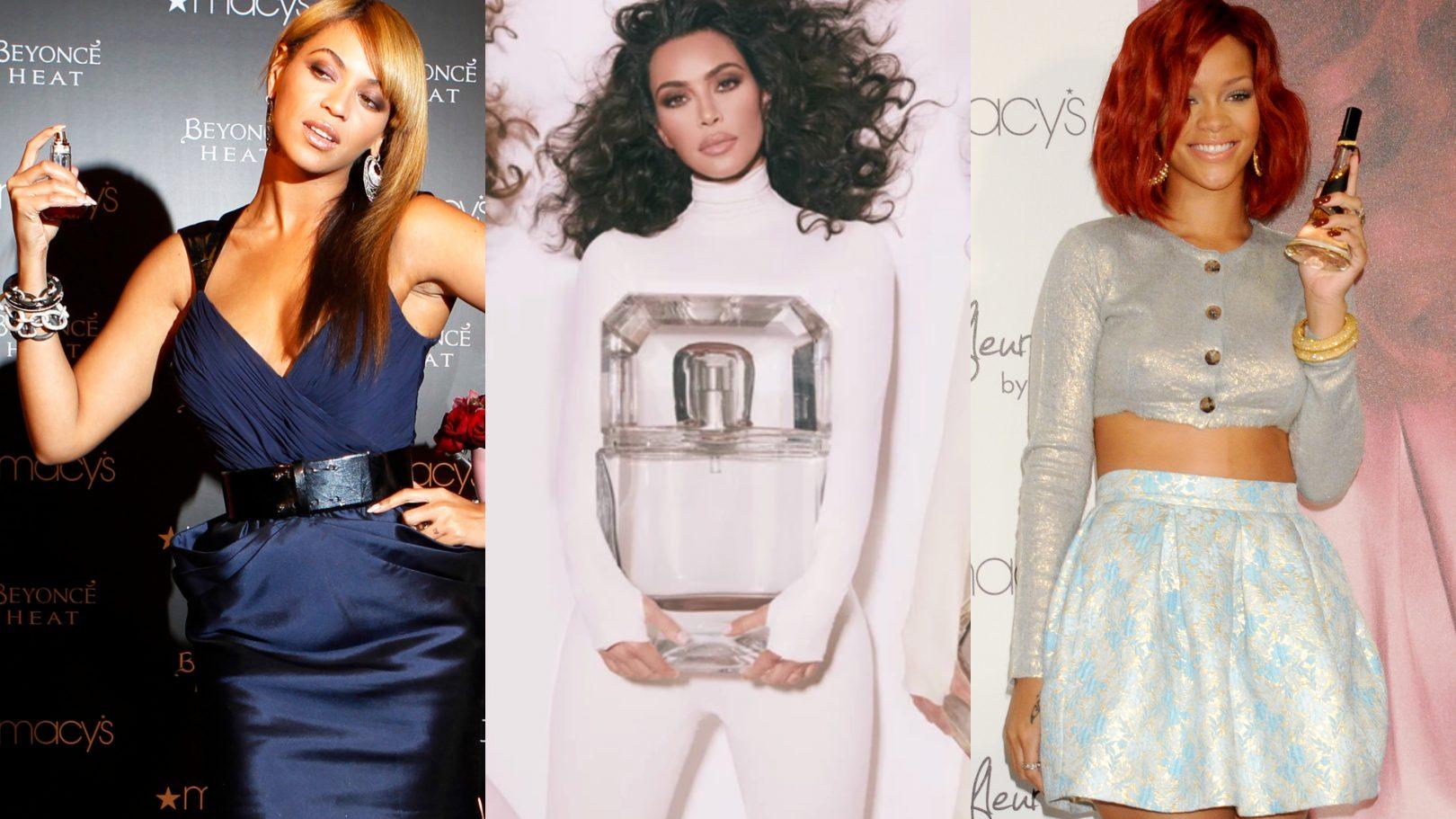 Beyoncé, Kim Kardashian, Rihanna fragrances