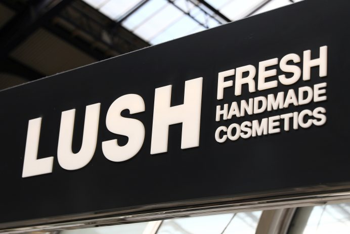 Lush Cosmetics store front - Credit: Reuters