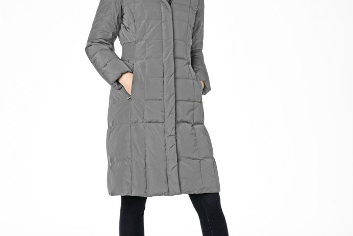Cole Haan Box-Quilt Down Puffer Coat discounted at Macy's