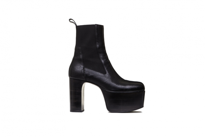 Black Rick Owens boots, worn by Marc Jacobs