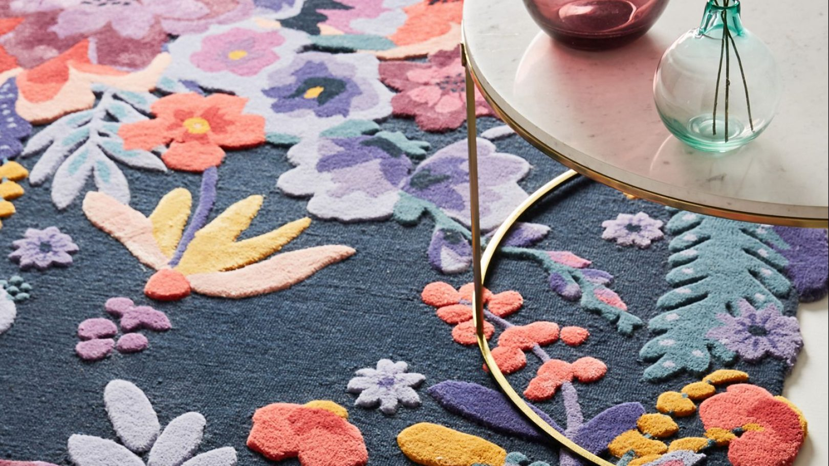 I've never loved anything more than Anthropologie's floral rugs