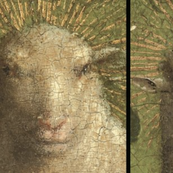 altarpiece restoration of lamb