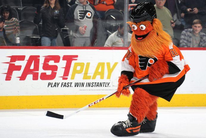 Philadelphia Flyers Gritty ice skating