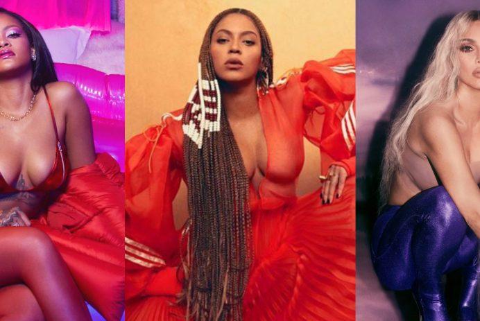 Rihanna, Beyoncé, Kim Kardashian-West