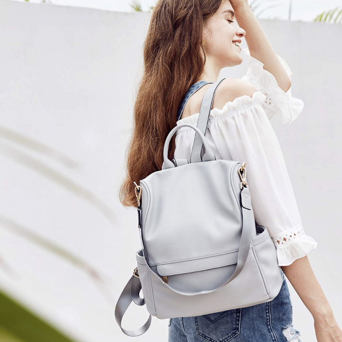 Cluci Vegan Leather Convertible Travel Bag