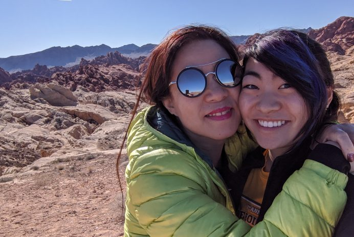 Alicia Cheng and her mother