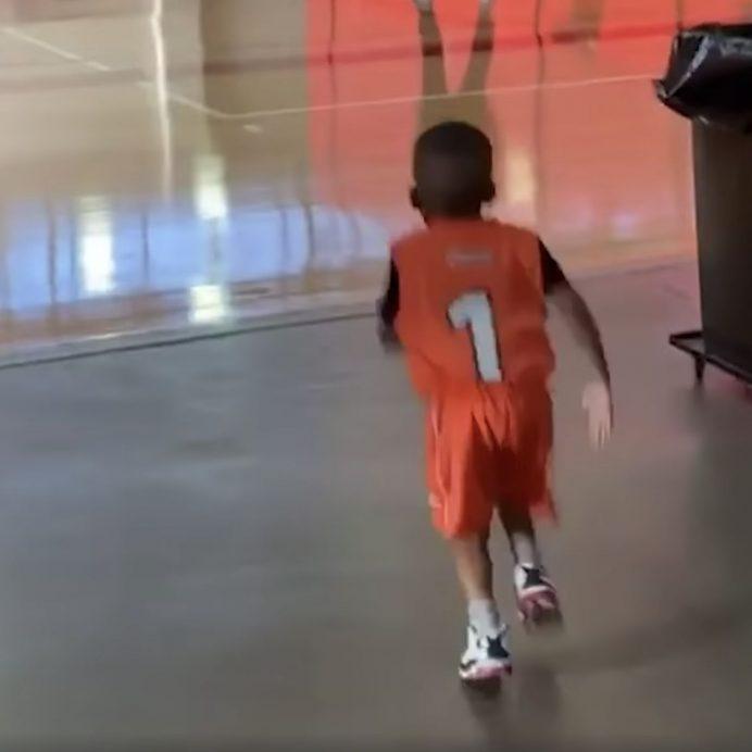 cute basketball son