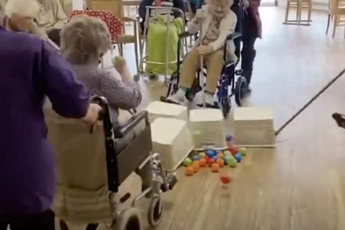 nursing home playing hungry hungry hippos