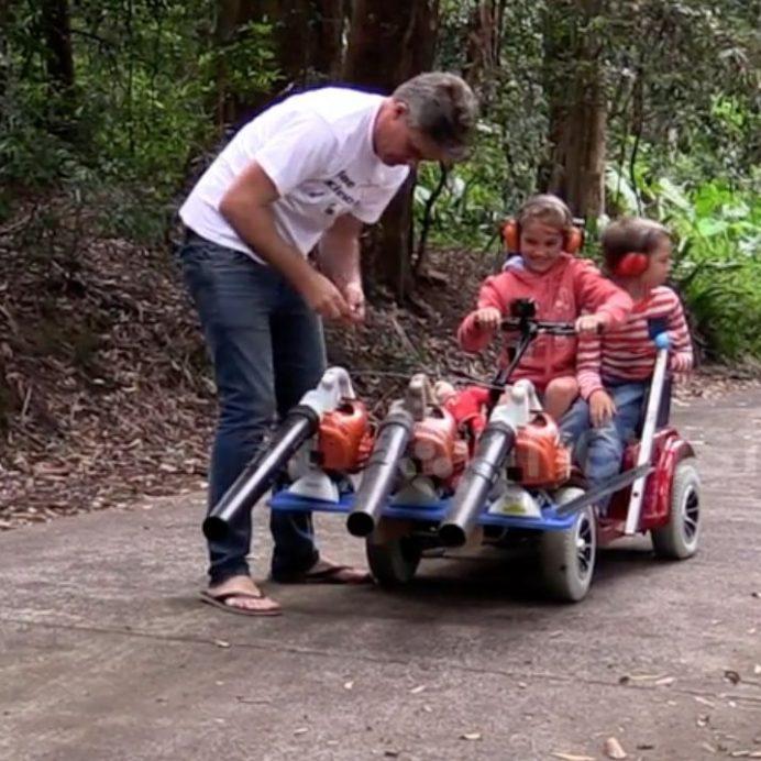 leaf blower go-kart