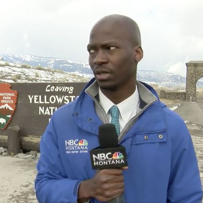 news reporter freaks out