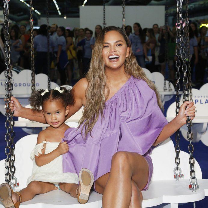 Chrissy Teigen and her daughter Luna