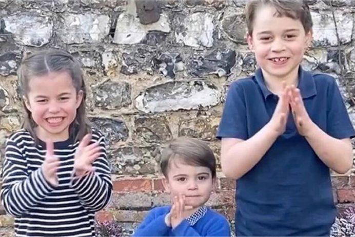 royal kids clapping