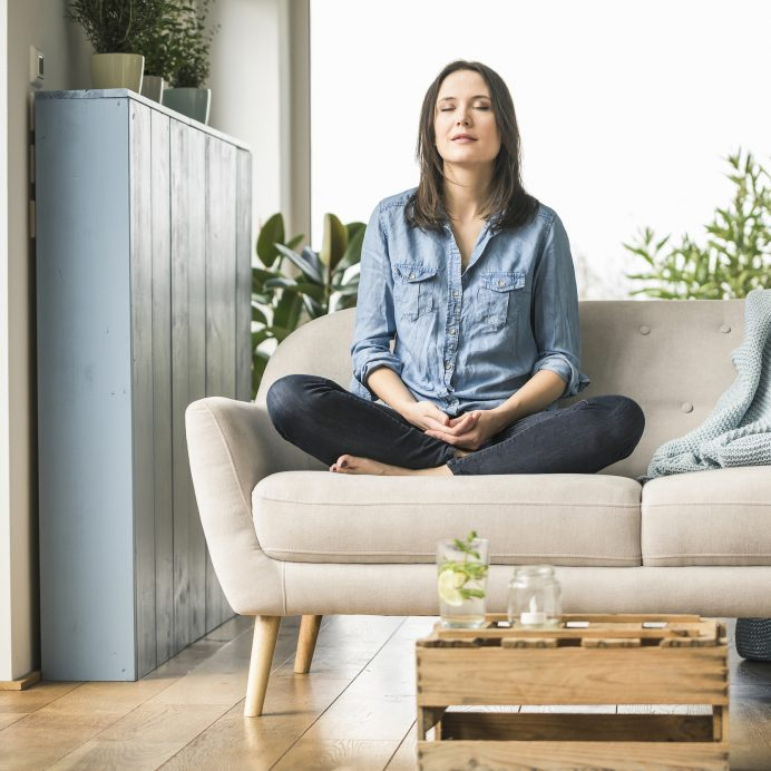 Woman mediates