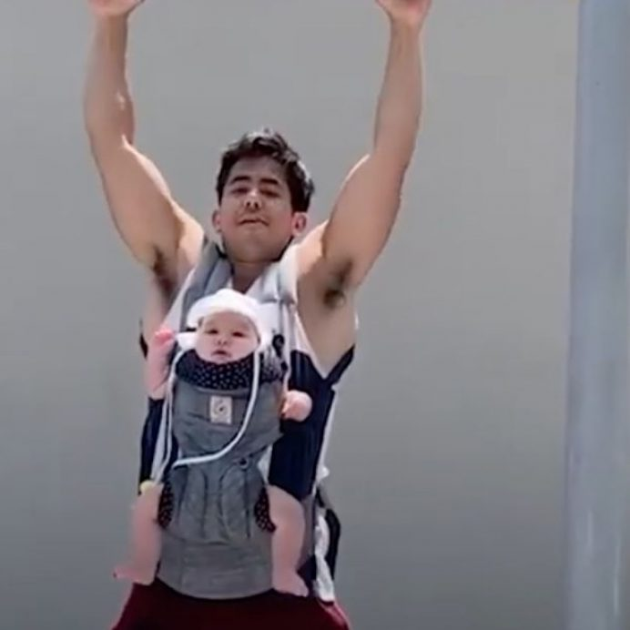dad and baby workout