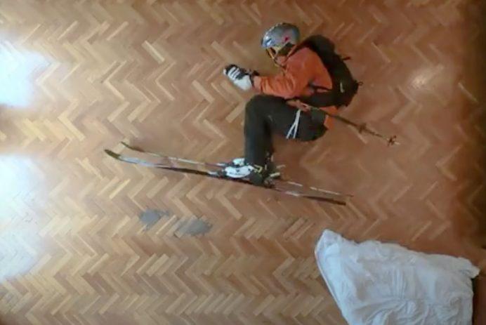 stop-motion skier