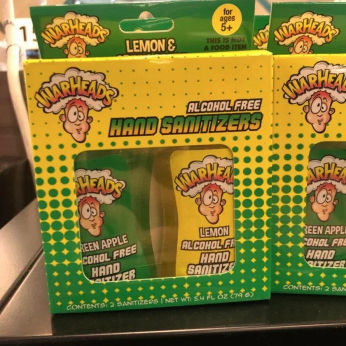 Warheads hand sanitizer