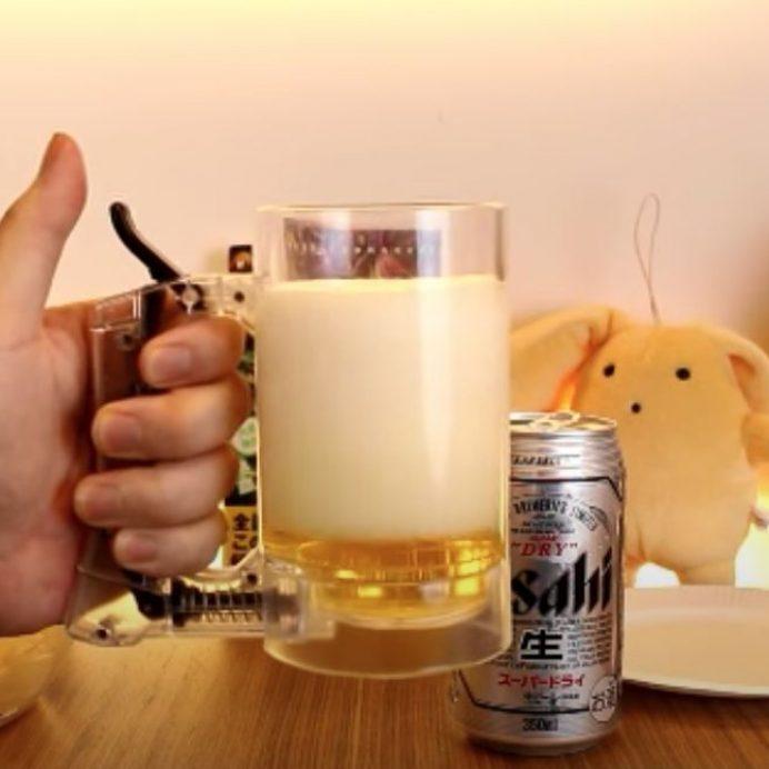 foam beer mug