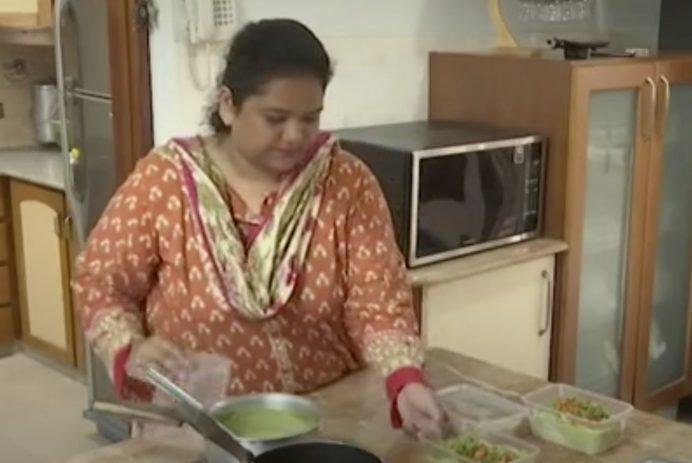 Young entrepreneur prepares food for Ramadan