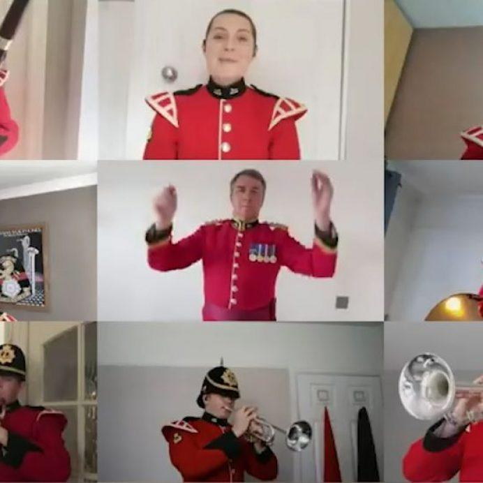 British Army sings happy birthday
