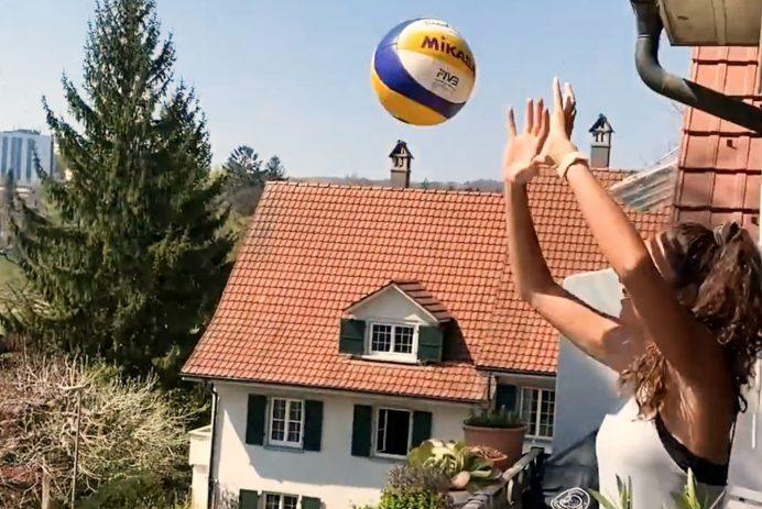 balcony volleyball