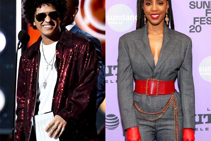 Bruno Mars and Kelly Rowland