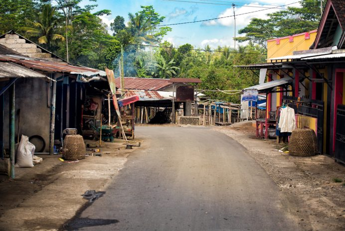 Village in Lombok, Indonesia