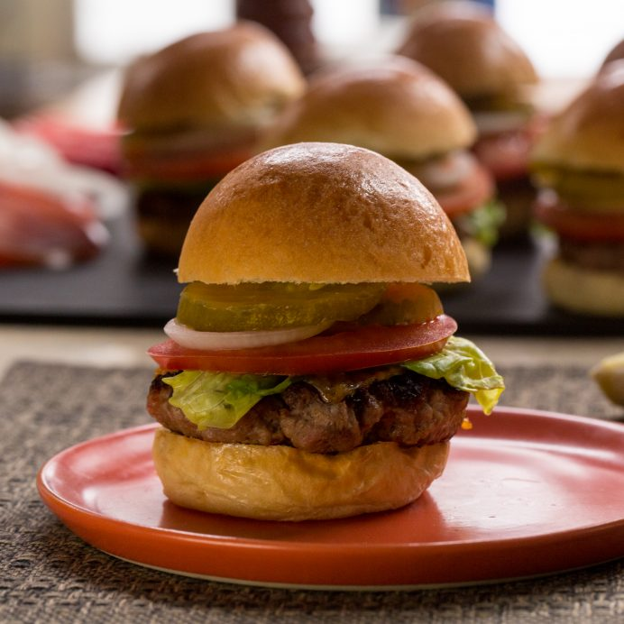 bacon beef sliders