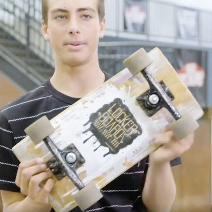 locker-sized skateboard