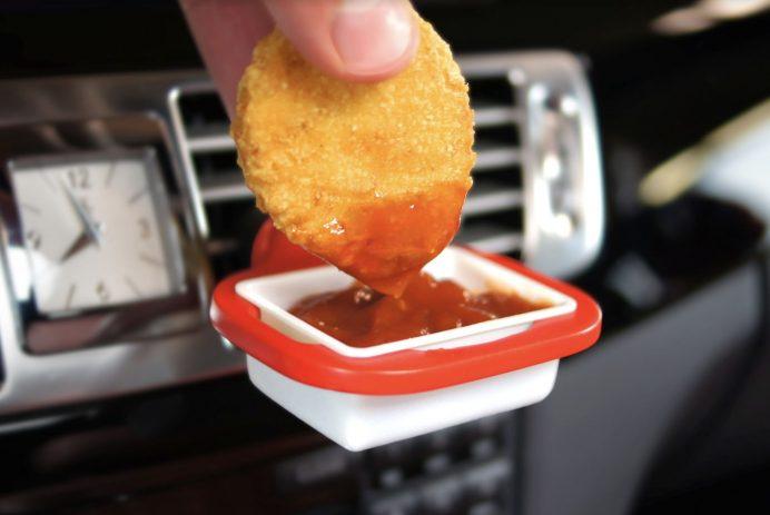 Saucemoto car dip holder