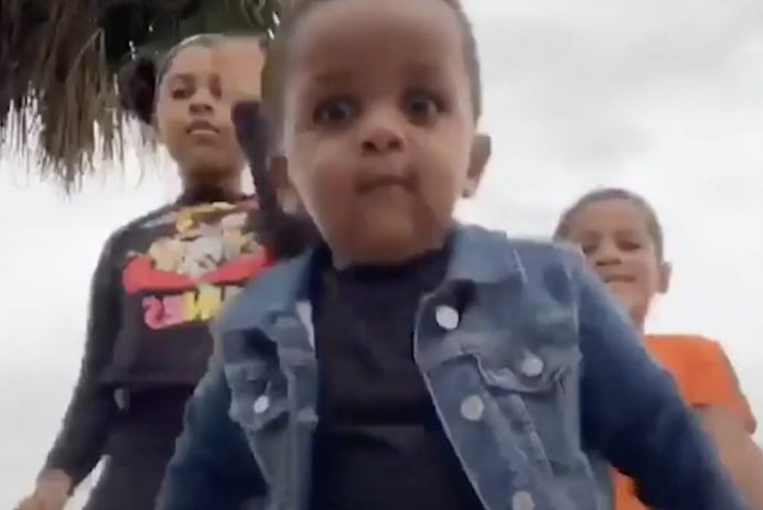 Adorable toddler steals the show from his two older siblings in viral TikTok