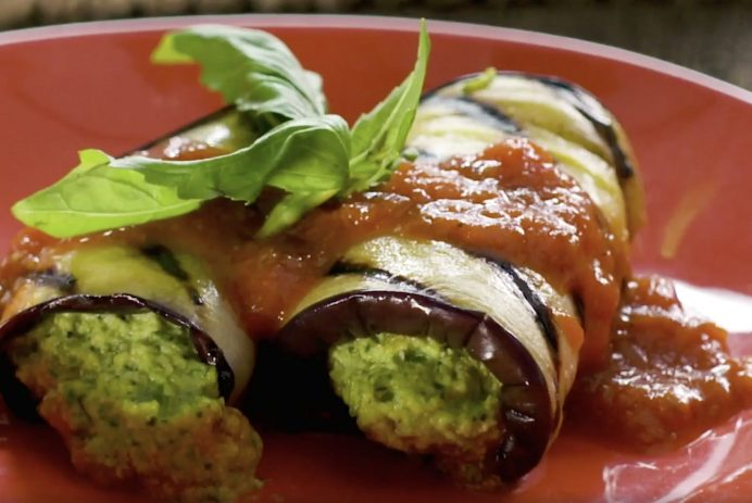 grilled eggplant cannelloni