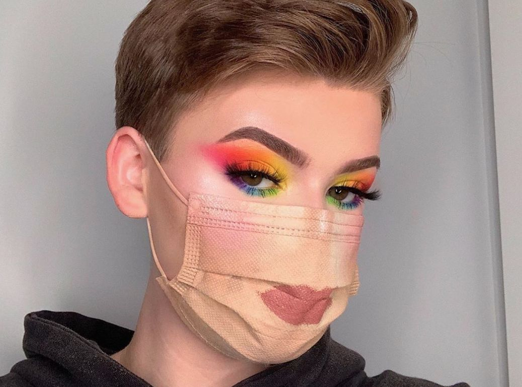 Full Face Of Makeup Over His Mask