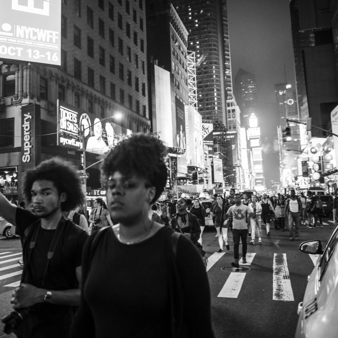Black Lives Matter protest in Times Square, New York City
