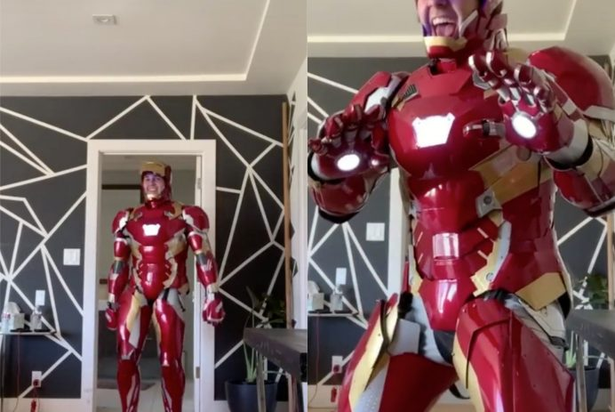 David Dobrik Iron Man suit