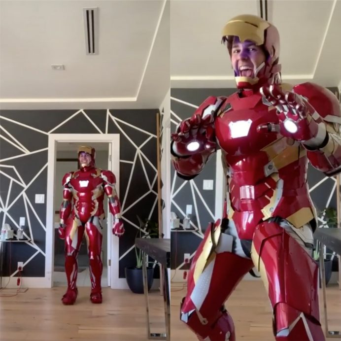 David Dobrik Iron Man suit
