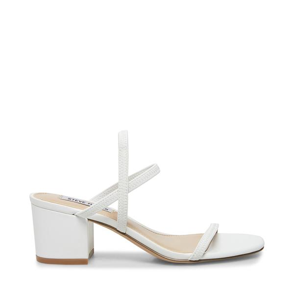 steve madden white heels sandals