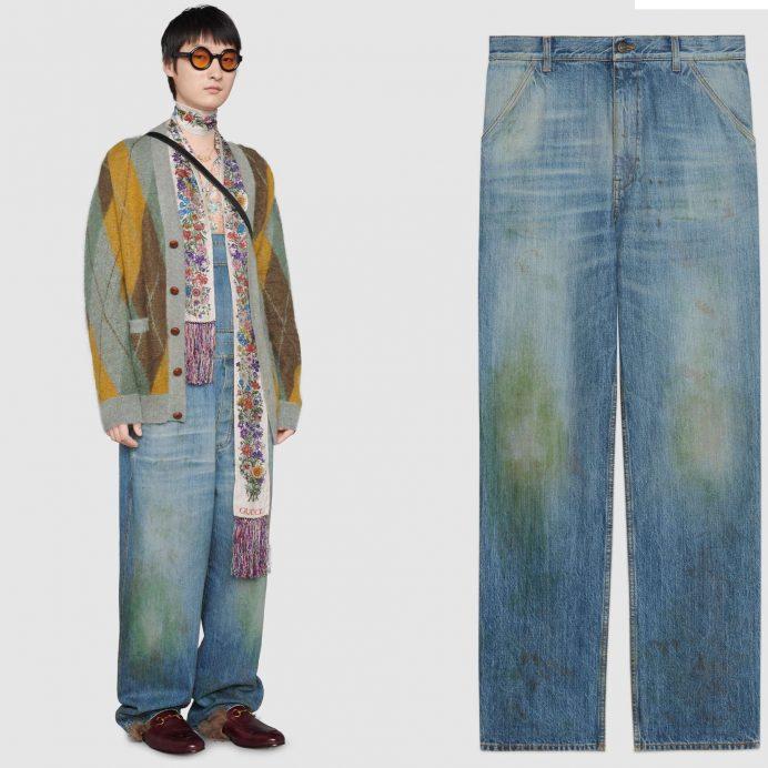 Gucci grass jeans