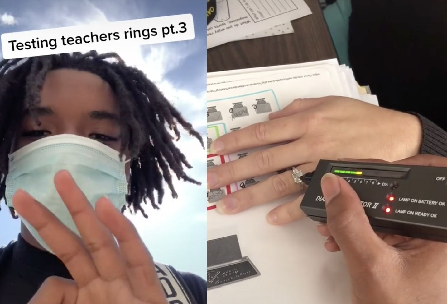 High school student sparks chaos by testing teachers' engagement rings to see if they're real