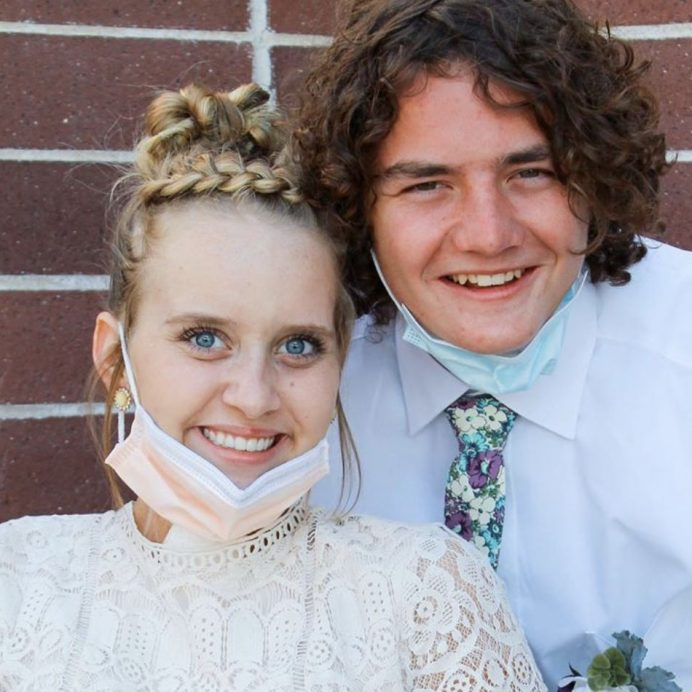 Sarah Frei and her date Andrew