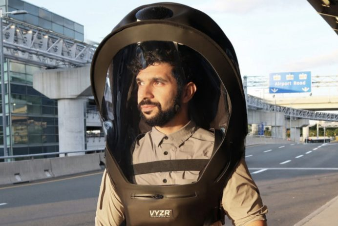 Futuristic face shield