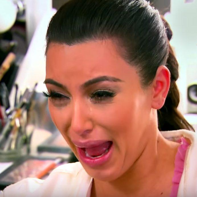Kim K crying Kardashian memes