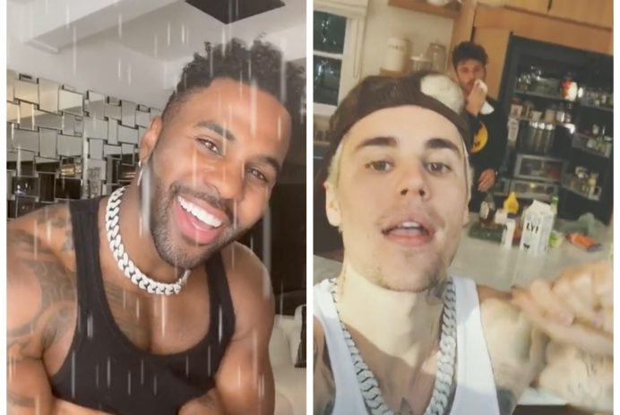 Jason Derulo and Justin Bieber celebrity TikToks