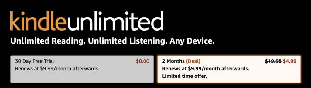 Here S How To Get Your First 2 Months Of Kindle Unlimited For Just 5