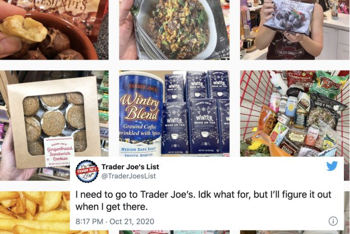 trader joes list instagram
