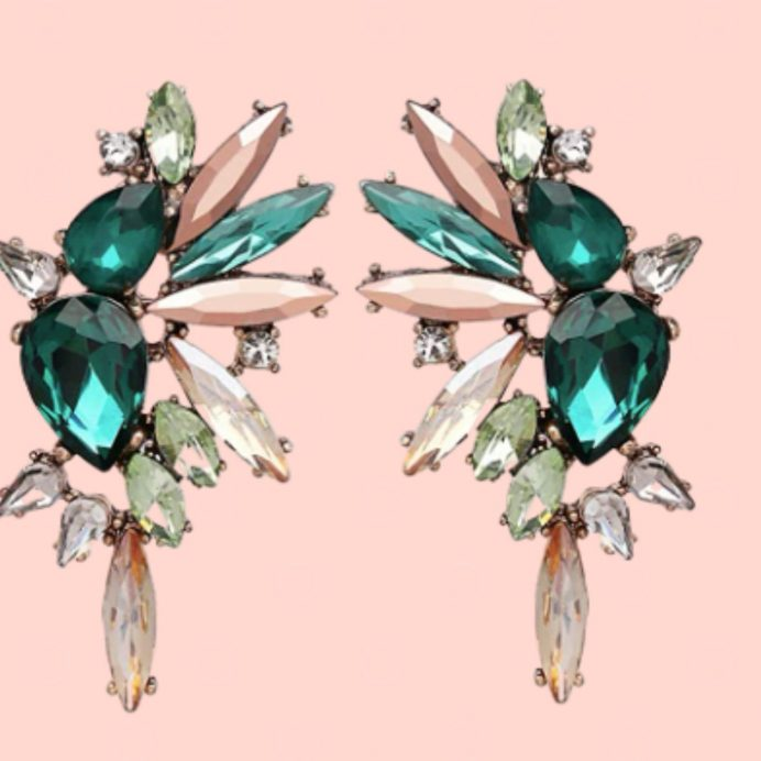 crystal earrings
