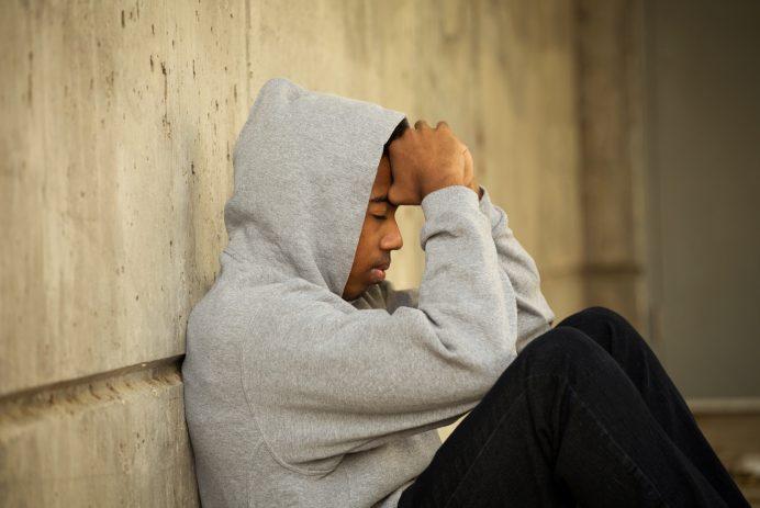 Self-harm depressed teenager